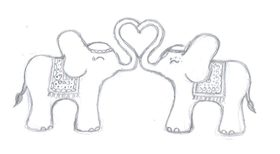 Gallery For gt Elephant Line Drawing Tattoo
