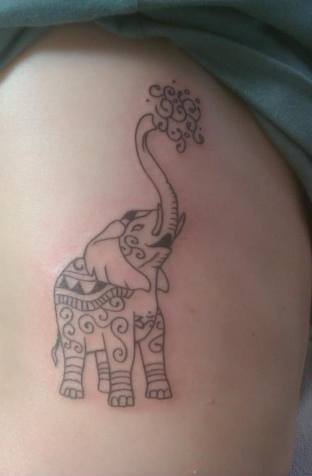 Elephant Rib Cage Tattoo Design