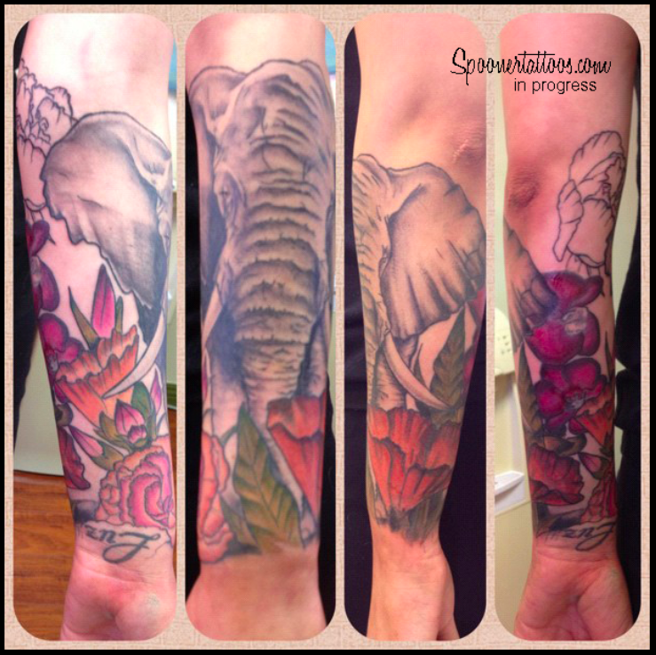 Elephant Tattoo On Sleeve