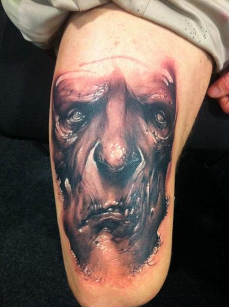 Evil Face Tattoo
