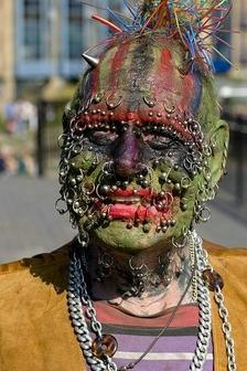 Extreme Piercing n Tattoo On Face