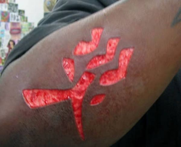 Extreme Scarification Tattoo Design