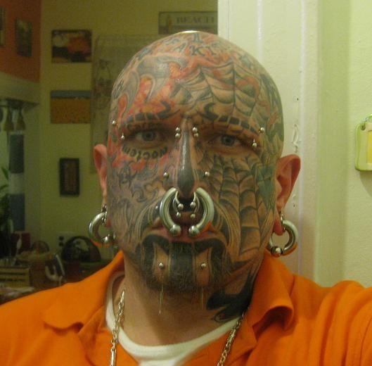 Extreme Tattoo On Full Face