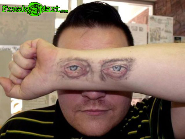 Eyes Tattoo On Forearm