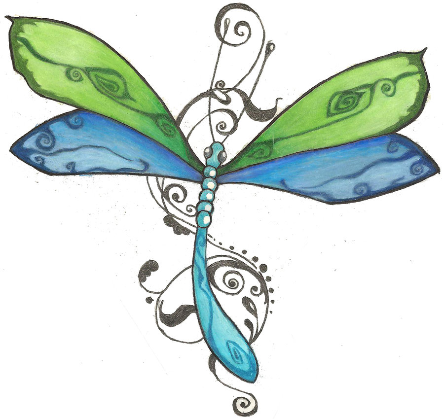 Fabulous Dragonfly Tattoo Sample