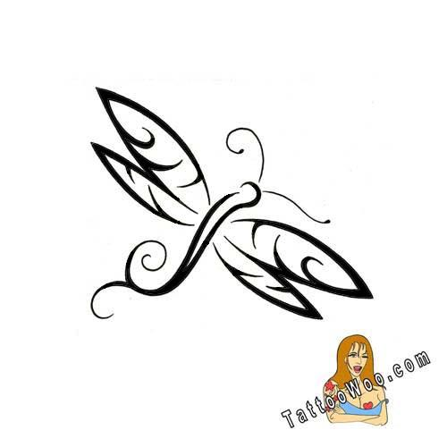 Fabulous Dragonfly Tribal Tattoo Design