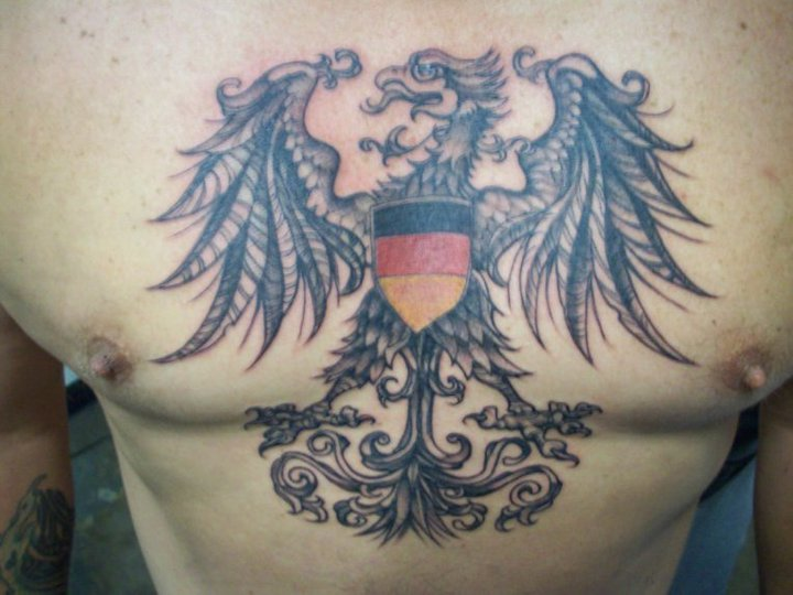 Family Crest Tattoo For Chest