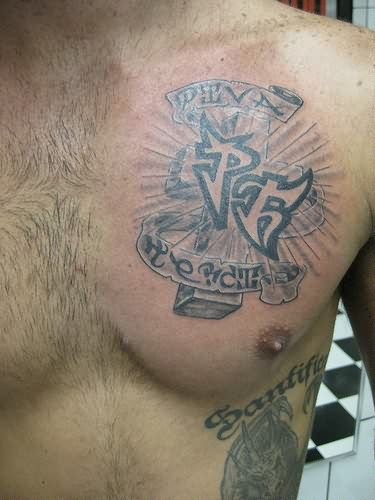 Family Crest Tattoo On Chest
