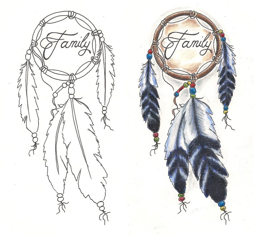Family Dream Catcher Tattoo Designs