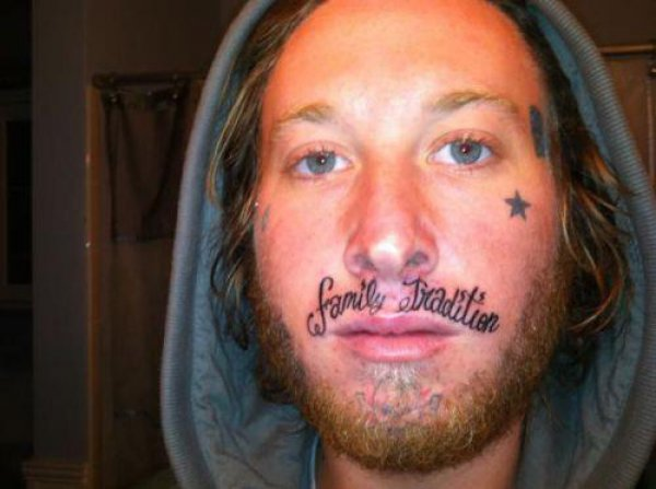 Family Tradition Face Tattoo Design