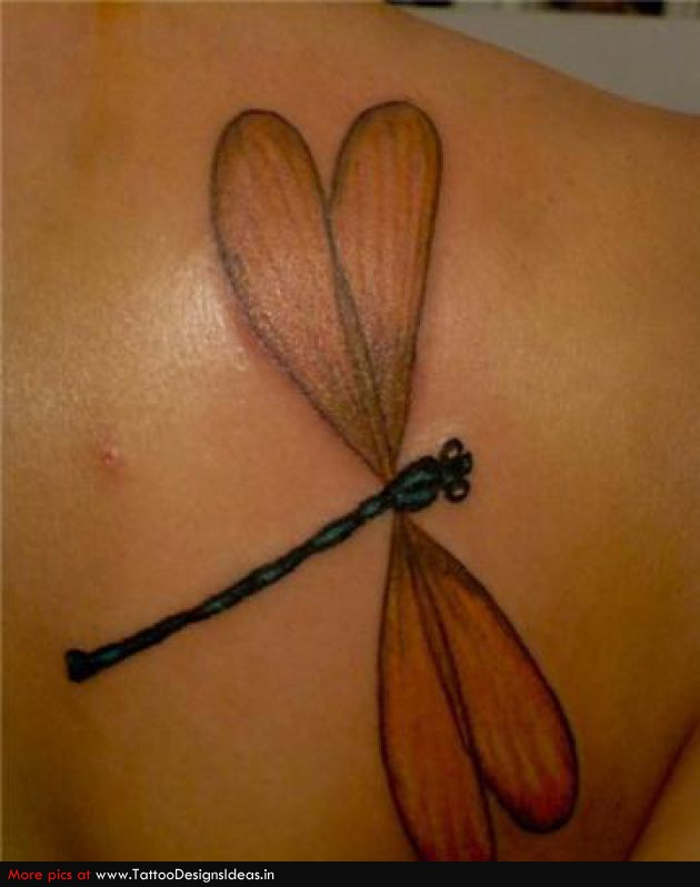 Fantastic Dragonfly Tattoo Design
