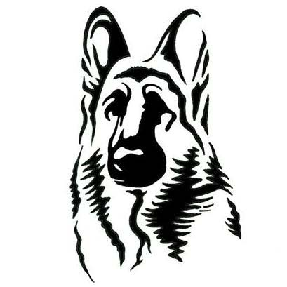 German Shepherd Dog Silhouette Tattoo Pictures