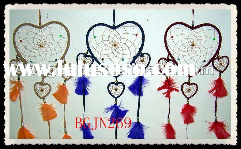 Handmade Indian Heart Shaped Dream Catcher Tattoo Designs