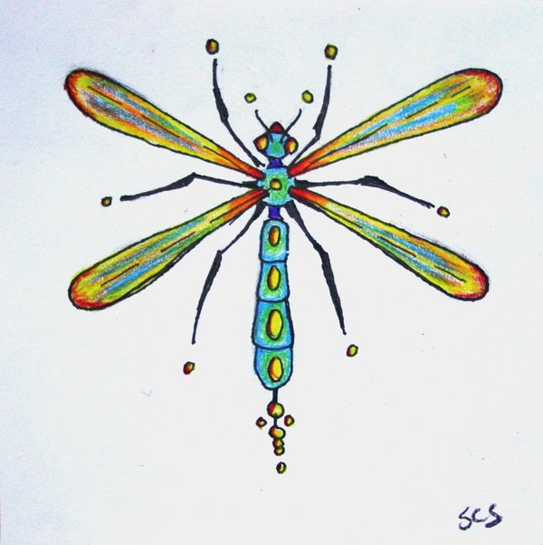 Impressive Dragonfly Tattoo Design
