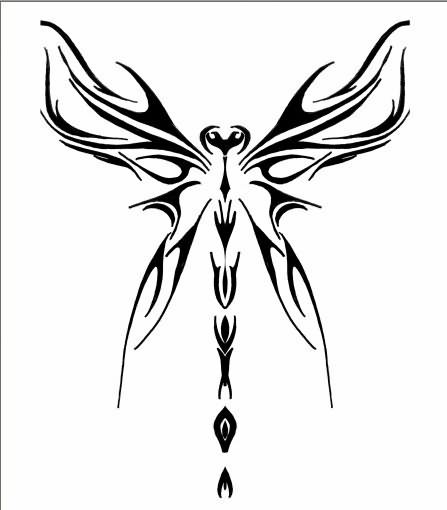 Latest Dragonfly Tattoo Design