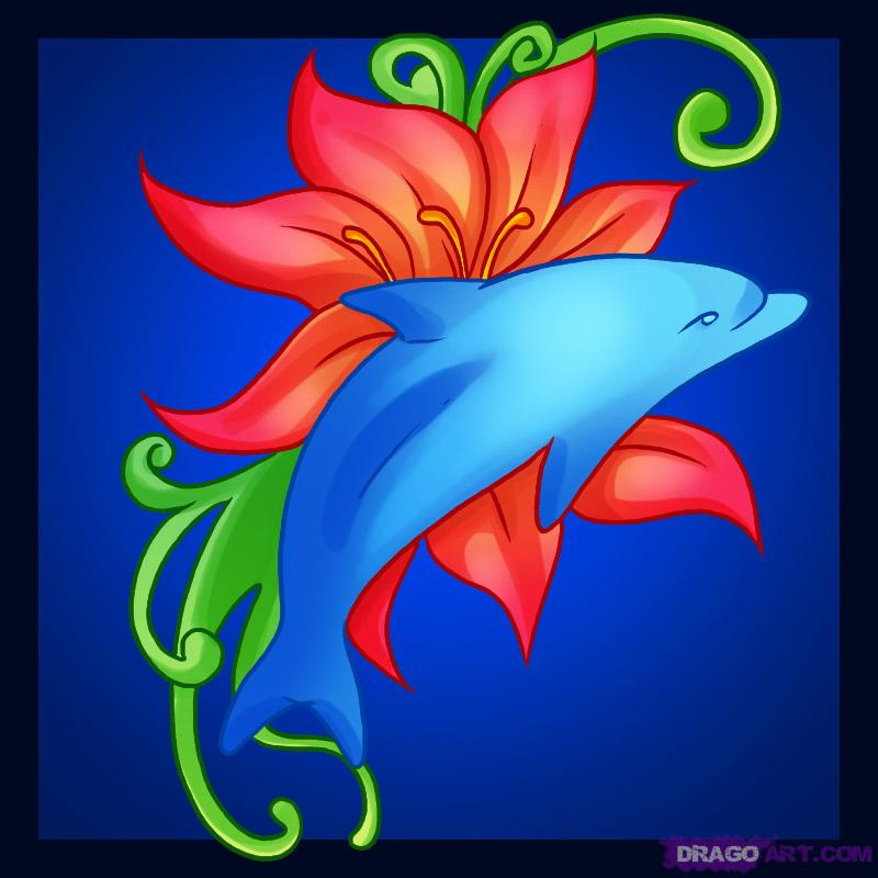 Lovely Dolphin Tattoo Picture