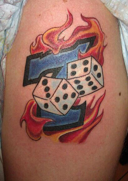 Lucky 7 Dice Tattoo
