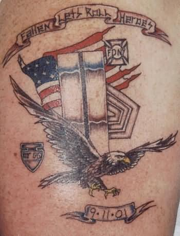 Memorial Eagle Tattoo