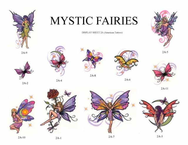 Mystic Fairies Tattoo Designs