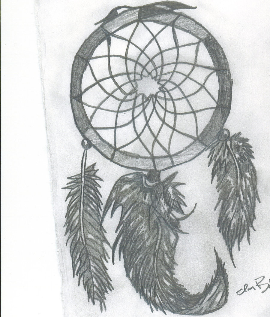 Native American Dream Catcher Tattoo Drawing