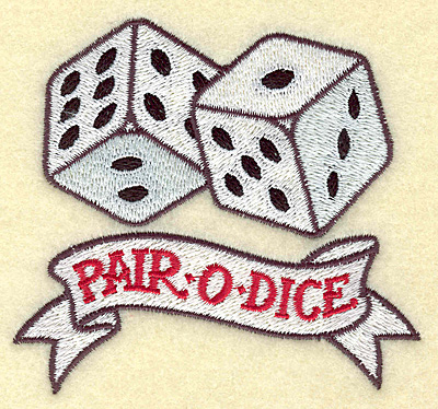 Pair O Dice Tattoo Design