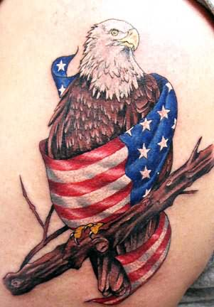 Patriot Eagle Country Tattoo