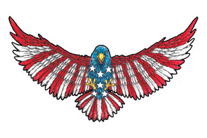 Patriotic Eagle Tattoo Design