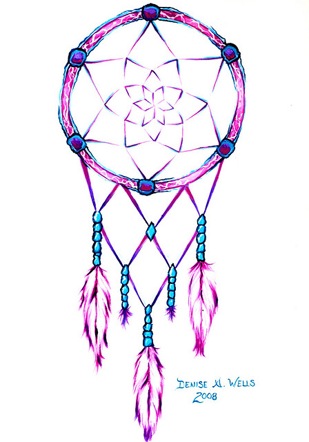Pink Dream Catcher Tattoo Sample Tattoobitecom