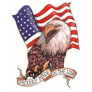 Proudly Made In USA Eagle Tattoo Design