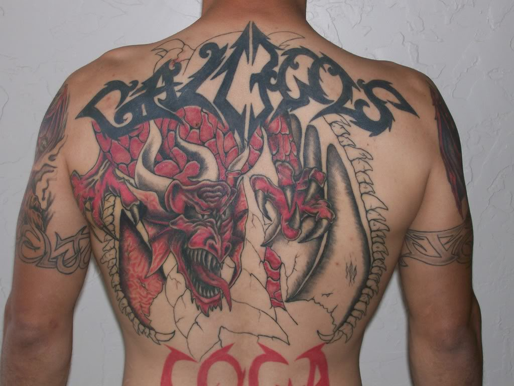Red & Black Dragon Tattoo