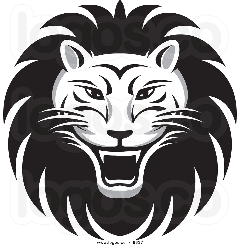 Roaring Lion Face Tattoo Design