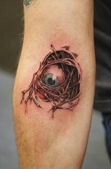 Scary Fantasy Eye Tattoo Design