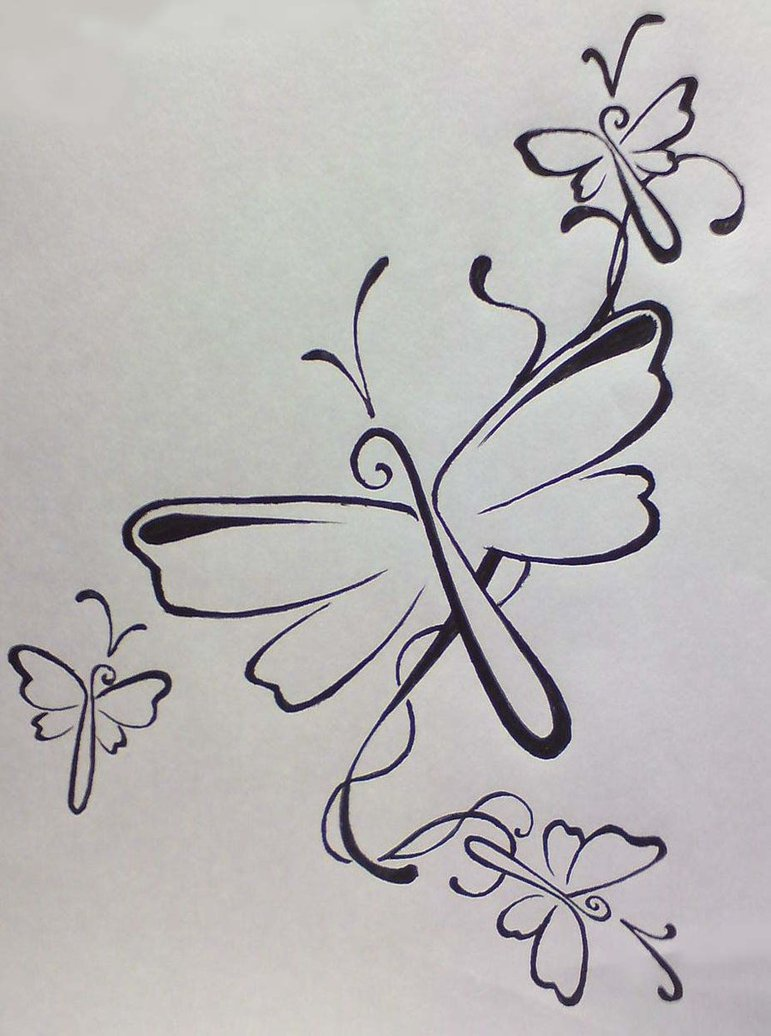 Simple Dragonfly Tattoo Design