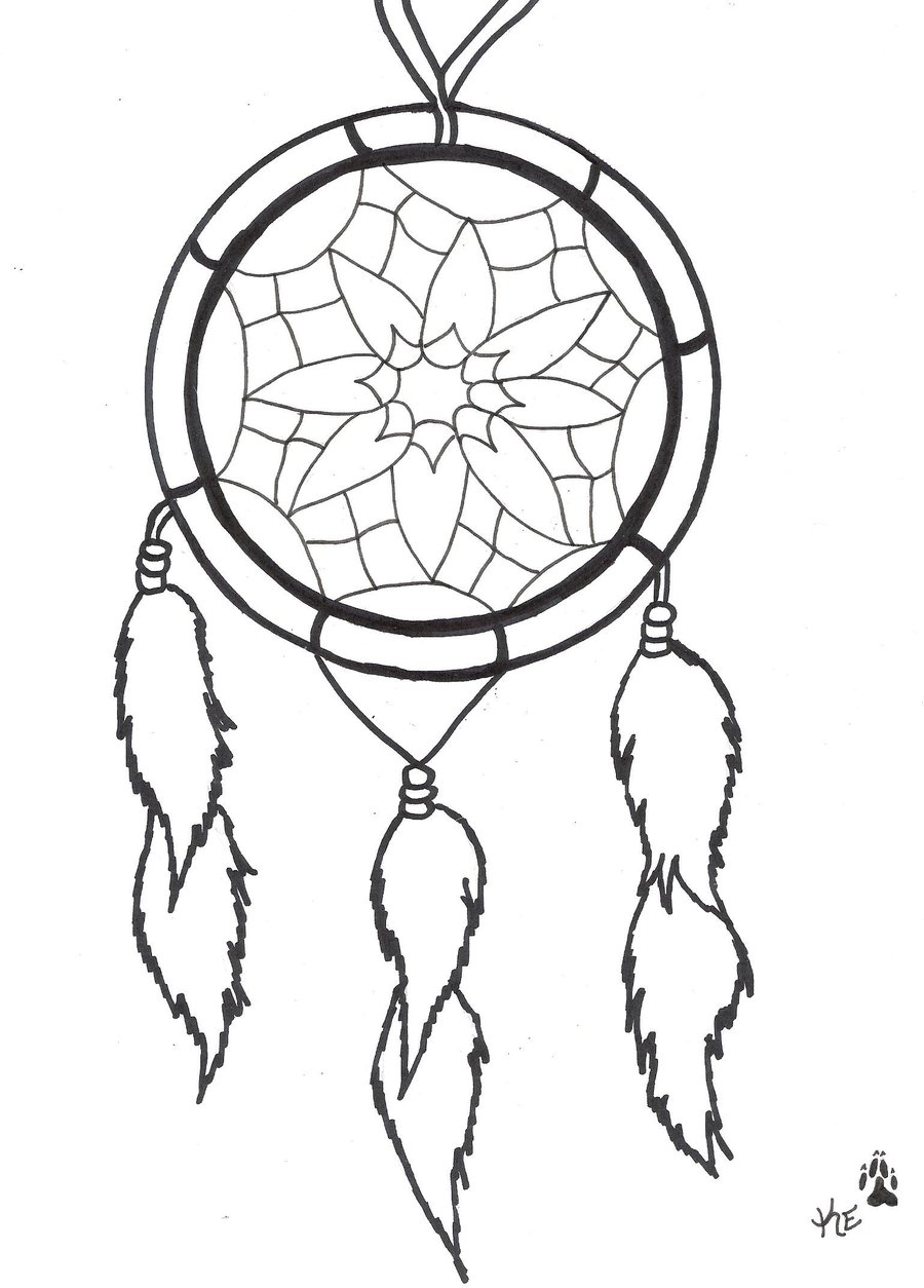 Simple Dream Catcher Tattoo Design