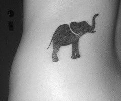 Small But Mighty Elephant Tattoo