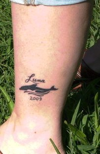 Small Dolphin Tattoo On Ankle