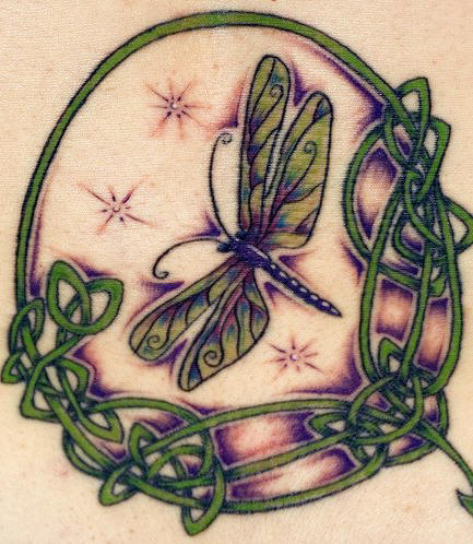 The Dragonfly Tattoo Design