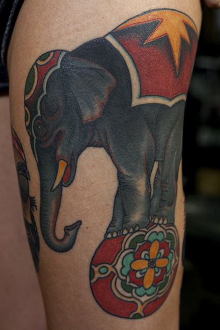 Traditional Elephant Tattoo Design