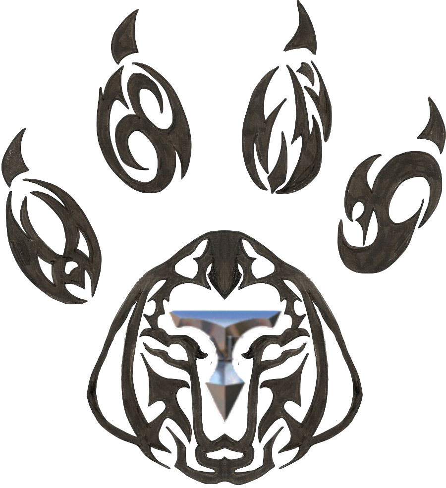 Tribal Dog Paw Tattoo Design