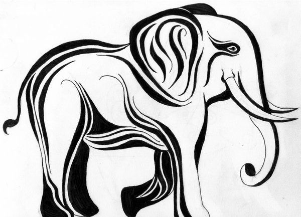 Tribal elephant tattoo designs - photo#19