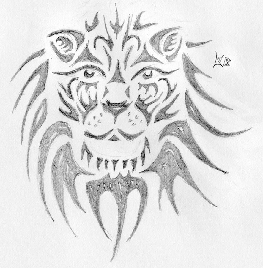 Tribal Lion Face Tattoos Images amp Pictures Becuo