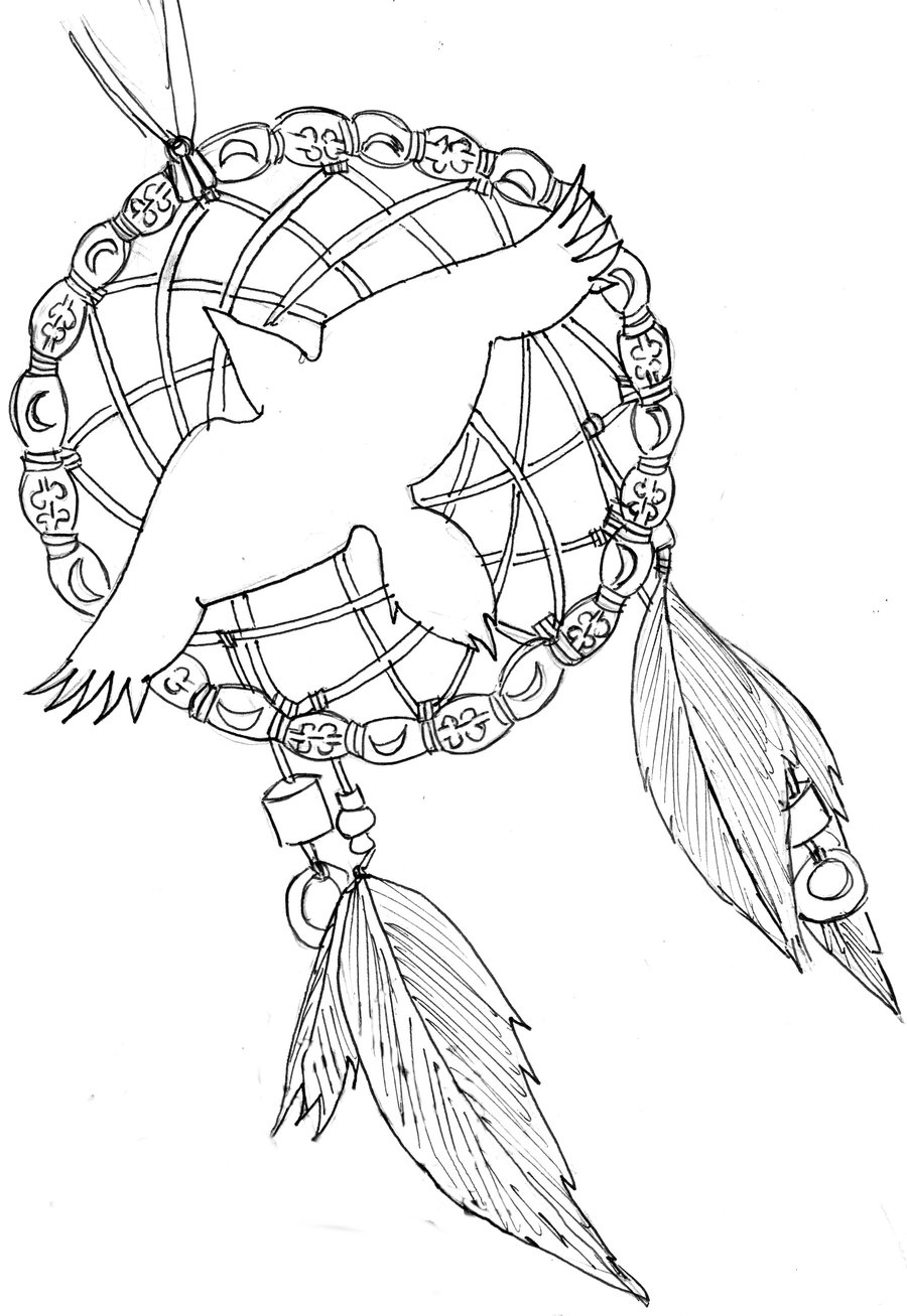 Displaying 17gt Images For Dreamcatcher Tattoos Designs