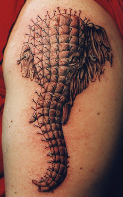 Unique Elephant Tattoo