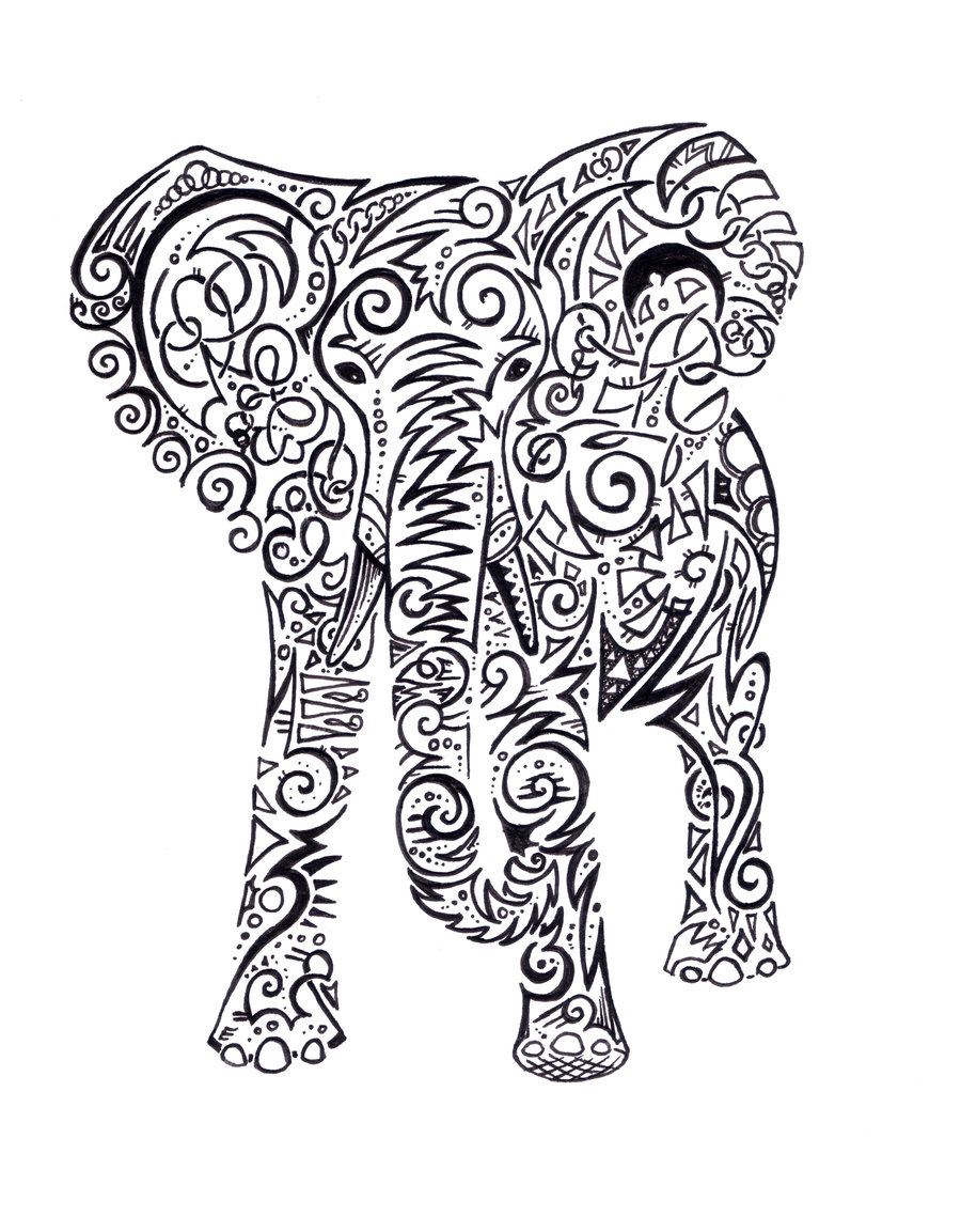 Indian Elephant Tattoos Viewing Gallery