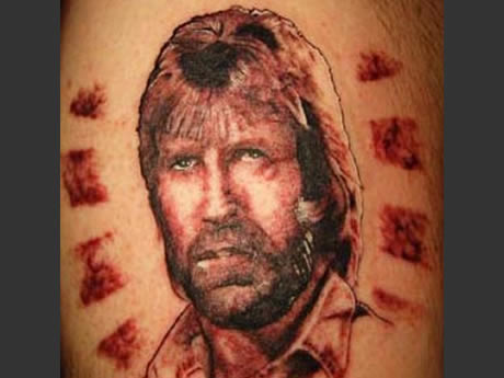 Worst Face Portrait Tattoo Design