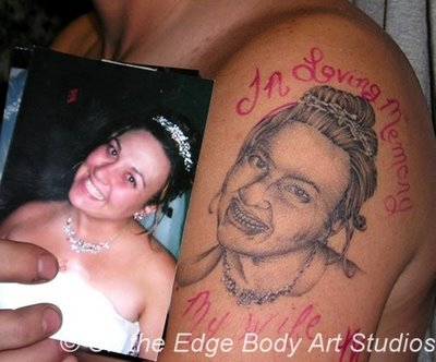Worst Face Portrait Tattoo On Shoulder
