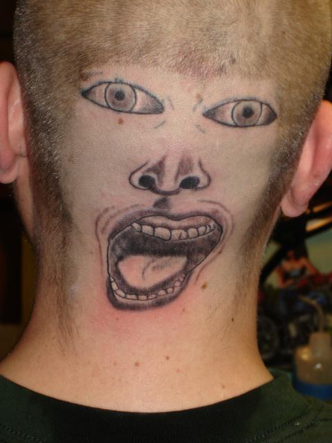 Worst Face Tattoo On Head