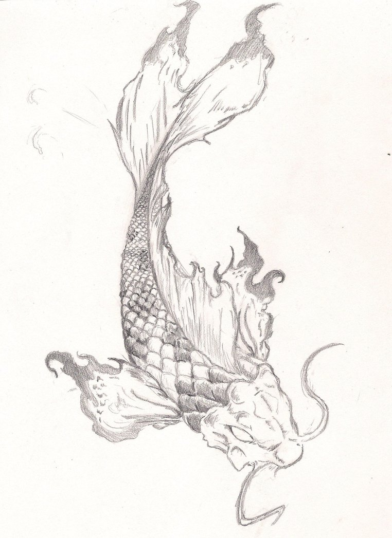 Again Koi Fish Tattoo Drawing