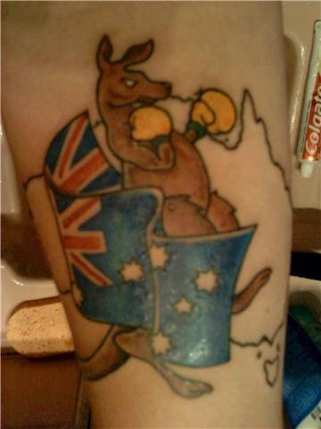 Australian Flag Tattoo Design