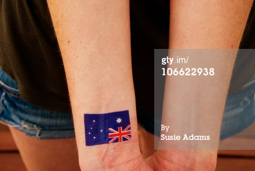 Australian Flag Tattoo On Wrist